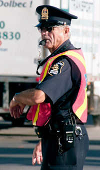 Policier et circulation
